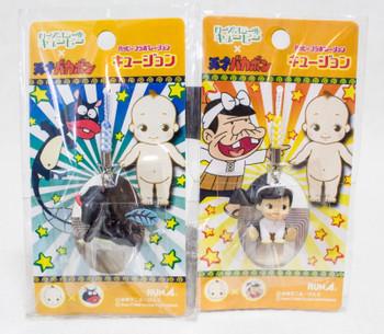 Set of 2 Tensai Bakabon Rose O'neill Kewpie Kewsion Strap JAPAN ANIME