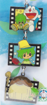 Doraemon Nobita and the Green Giant Film type Metal Charm Mobile Strap JAPAN