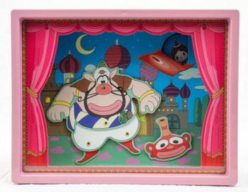 RARE! The Genie Family Theater Type Music Box Akubi Girl Song JAPAN ANIME MANGA