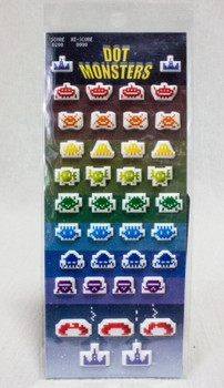 Dot monsters Space Invaders Plump Sticker Set GAME
