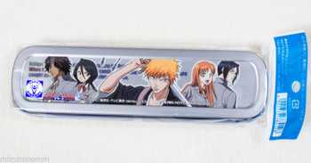 BLEACH Can Pen Case Showa Note Ichigo Rukia Kon JAPAN ANIME MANGA JUMP