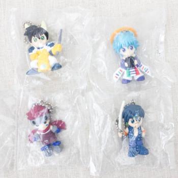 RARE! Set of 4 Senkaiden Hoshin Engi Figure Ball Chain Taikoubou/Nataku/Kugen/Tenka JAPAN
