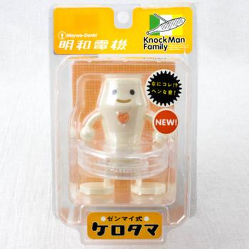 Meiwa Denki Knock Man Family KEROTAMA White Clockwork Sound Figure Toy JAPAN