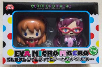 Evangelion EVA Premium Micro Macro Figure Asuka Langley Mari Makinami SEGA JAPAN