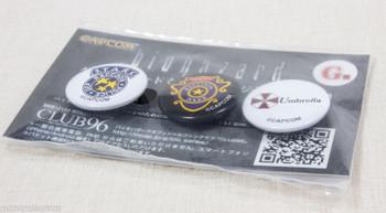 Biohazard Mini Button Pins Badge Set Capcom 3 JAPAN GAME