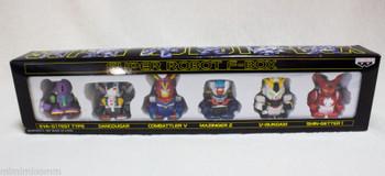 Super Robot F-Box Mini Pull Back Figure Set JAPAN EVA GUNDAM MAZINGER Z