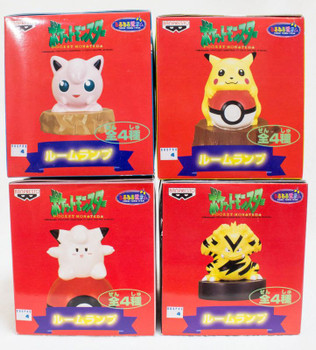 Complete Set of 4 POKEMON Room Lump Light Banpresto JAPAN ANIME MANGA PICACHU