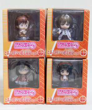 Set of 4 To Aru Majutsu no Index Railgun Nendoroid Petit Vol.2 Figure JAPAN