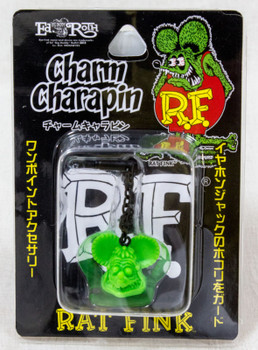RAT FINK Green Ver. Charm Charapin for Smart Phones for Earphone Jack