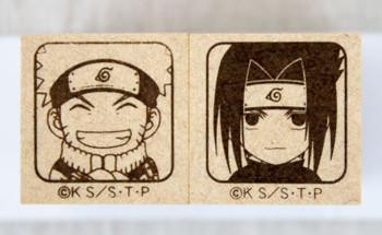 NARUTO Mini Stamp Set Uzumaki Naruto Uchiha Sasuke JAPAN ANIME MANGA
