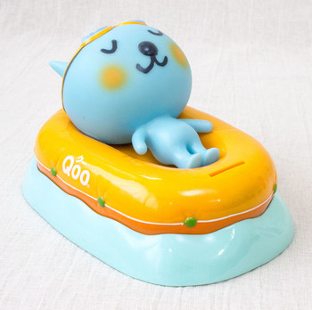 QOO Talking Voice Figure Coin Bank Boat Ver. Coca-Cola Yamazaki Japan Limited