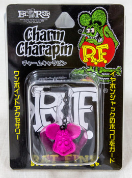 RAT FINK Pink Ver. Charm Charapin for Smart Phones for Earphone Jack