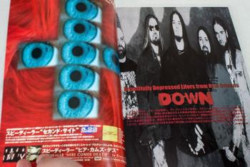 2002 Vol.6 BASTARDS! BURRN! Japan Magazine DOWN/SLIPKNOT/ANDREW W.K./TOILET BOYS