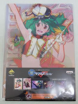 Set of 5 Macross Flontier Clear File Folder Ichiban kuji 3 JAPAN ANIME MANGA