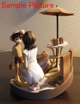 Evangelion Scene Vignette Figure Shinji & Yui Sepia Ver. Banpresto JAPAN ANIME
