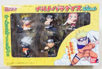 NARUTO Mascot Mini Figure 5 Set Naruto Sasuke Sakura Kakashi Iruka Bandai JAPAN ANIME JUMP