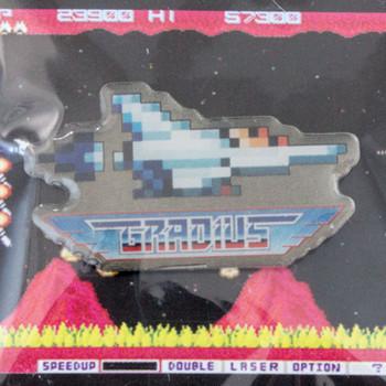 RARE!! Gradius Nemesis VIC VIPER Pins Badge Konami JAPAN GAME