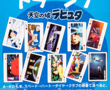 Laputa : Castle in the Sky Trump Playing Cards Ghibli JAPAN ANIME MANGA
