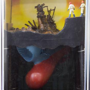 "Space Battleship YAMATO 9"" Diorama Figure Prologue Ver. JAPAN ANIME"
