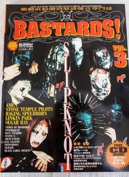 2001 Vol.3 BASTARDS! BURRN! Japan Magazine SLIPKNOT/LINKIN PARK/RACING SPEEDHORN
