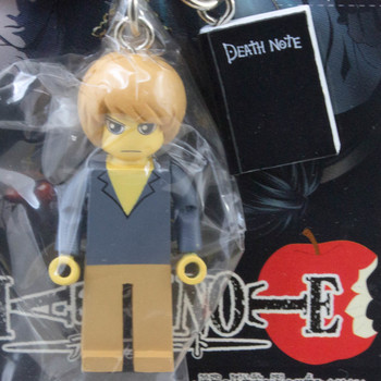 RARE! Death Note Light Yagami w/Note Mascot Figure Key Chain JAPAN ANIME MANGA