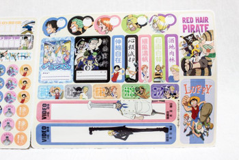 ONE PIECE Jumbocarddass W DX.4 Stickers Set BANDAI 2001 JAPAN ANIME MANGA JUMP
