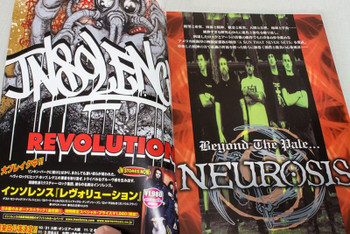 2001 Vol.4 BASTARDS! BURRN! Japan Magazine NEUROSIS/SLIPKNOT/INCUBUS/ROLLINS