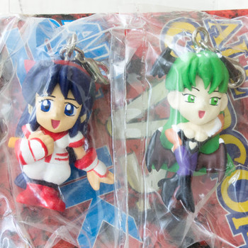 SNK VS Capcom Morrigan & Nakoruru Figure Mascot Vampire Savior JAPAN