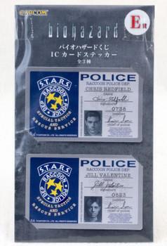 Biohazard Card Type Sticker Set Capcom 2 JAPAN GAME
