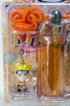 NARUTO Naruto Uzumaki Figure Neck Strap w/Soap Bubble Case JAPAN ANIME MANGA