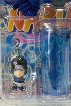 NARUTO Sasuke Uchiha Figure Neck Strap w/Soap Bubble Case JAPAN ANIME MANGA