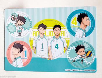 Haikyu!! Magnet Sheet Set Tobio Kageyama + Aobajosai JAPAN ANIME MANGA