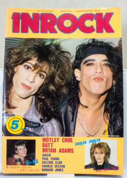 INROCK May/1986 Vol.29 Japanese Music Magazine RATT/A-HA/BOY GEORGE/MOTLEY CRUE