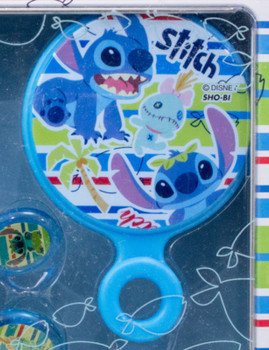 Disney Stitch Toiletries Goods Hairbrush Mirror Hair Elastic Tin Case JAPAN