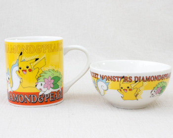 Pokemon Mug & Japanese Rice Bowl Set Pikachu Pocket Monsters JAPAN ANIME