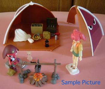RARE! Keroro Gunso Giroro Camping Tent Diorama Figure Bandai JAPAN ANIME MANGA
