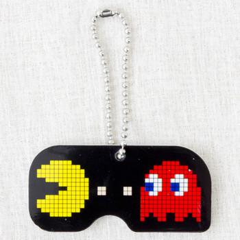 Namco Characters Plate Ball Chain Pac-man Famicom JAPAN