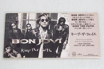 Bon Jovi Keep the Faith 3 inch 8cm JAPAN CD Single HARD ROCK