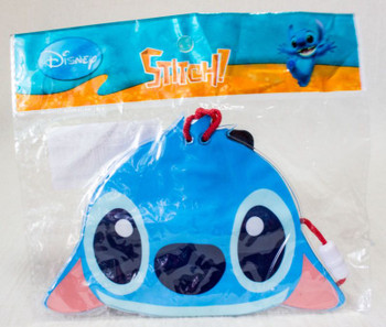 Disney Stitch Face Die-cut Vinyl Pochette Mini Bag JAPAN