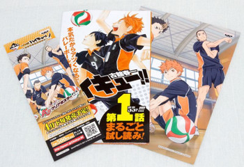 Haikyu!! Promotion goods; Limited Sticker + episode.01 booklet + Bookmark JAPAN