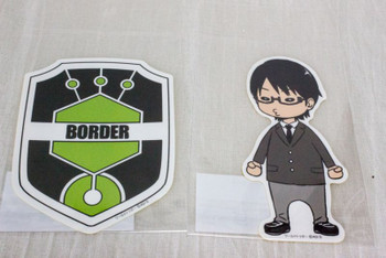 Set of 2 World Trigger Osamu Mikumo Die cut sticker JAPAN ANIME SHONEN JUMP