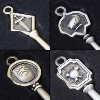 Complete Set Biohazard Mansion Keys Capcom Kuji JAPAN GAME RESIDENT EVIL