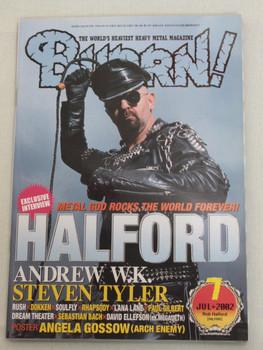 2002/07 BURRN! Japan Magazine HALFORD/ANDREW W.K/RUSH/SOULFLY/RHAPSODY/EDGUY