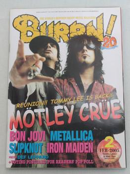 2005/02 BURRN! Japan Magazine MOTLEY CRUE/SLIPKNOT/VELVET REVOLVER/ANGRA/BONJOVI