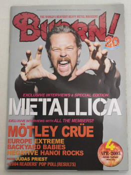 2005/04 BURRN! Japan Magazine METALLICA/MOTLEY CRUE/EUROPE/NEGATIVE/EXTREME