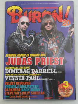 2005/03 BURRN! Japan Magazine JUDAS PRIEST/DIMEBAG DARRELL/DARKNESS/ARCH ENEMY