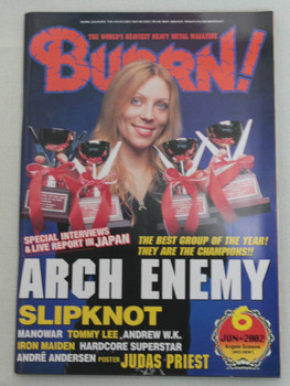 2002/06 BURRN! Japan Magazine ARCH ENEMY/SLIPKNOT/MANOWAR/HARDCORE SUPERSTAR