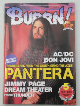 2000/05 BURRN! Japan Magazine PANTERA/AC/DC/DREAM THEATER/BON JOVI/SLIPKNOT/