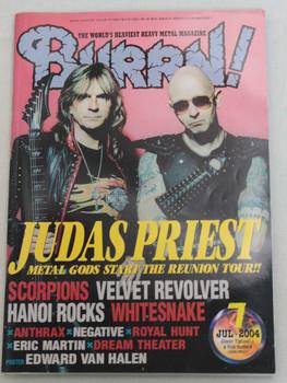 2004/07 BURRN! Japan Magazine JUDAS PRIEST/VELVET REVOLVER/DATSUNS/NEGATIVE