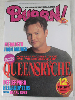 1999/12 BURRN! Japan Rock Magazine QUEENSRYCHE/IRON MAIDEN/MEGADETH/HELLACOPTERS